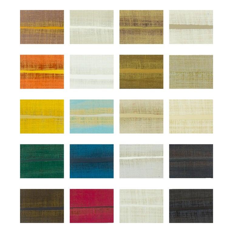 Grasscloth Parson's Table For Sale 6