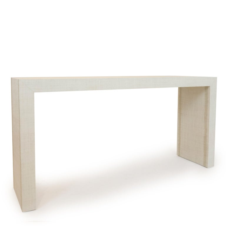 American Grasscloth Parson's Table For Sale