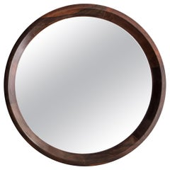 Grasselli Round Mirror with Wooden Frame by Sergio Rodrigues, circa 1960