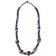 Grassland People, Traditional Bamileke Seven Layer Chevron Trade Bead Necklace