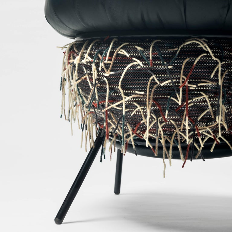 Lacquered Grasso Armchair and Footrest by Stephen Burks for BD Barcelona For Sale