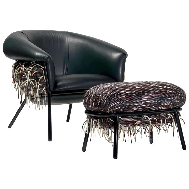 Grasso Armchair and Footrest by Stephen Burks for BD Barcelona For Sale