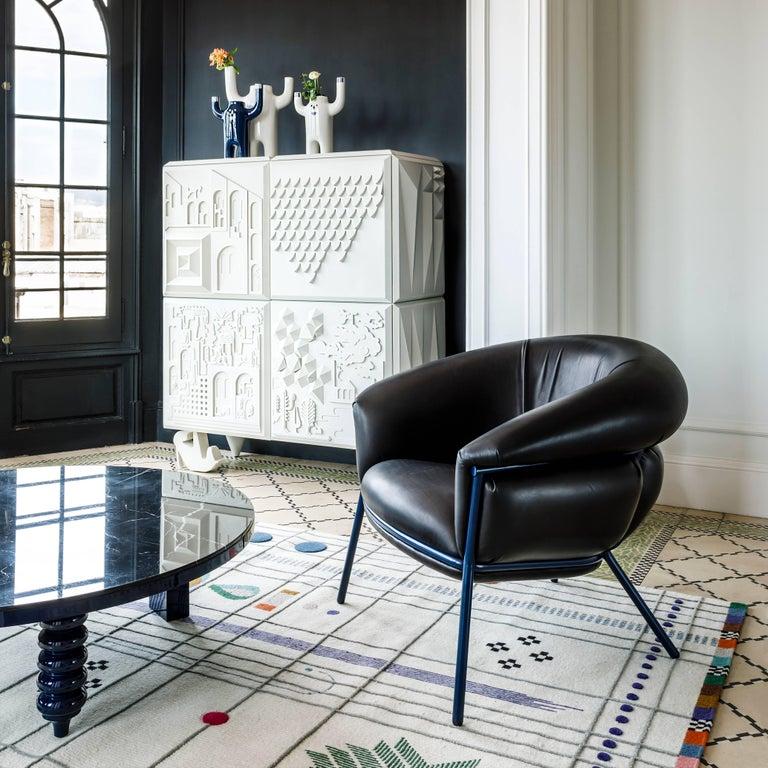 Mid-Century Modern Grasso Armchair by Stephen Burks, Black For Sale
