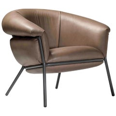 Grasso Armchair by Stephen Burks, Brown