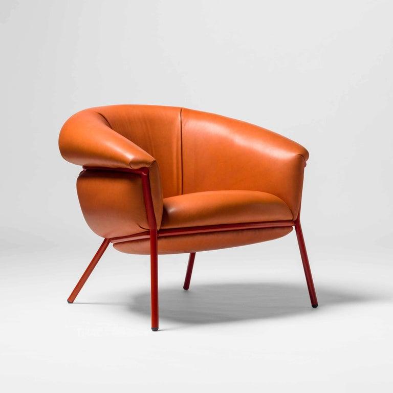 Modern Grasso Armchair by Stephen Burks, Orange For Sale