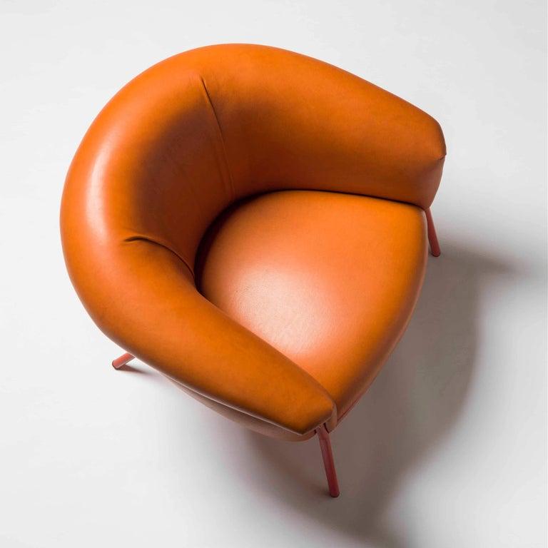 Spanish Grasso Armchair by Stephen Burks, Orange For Sale