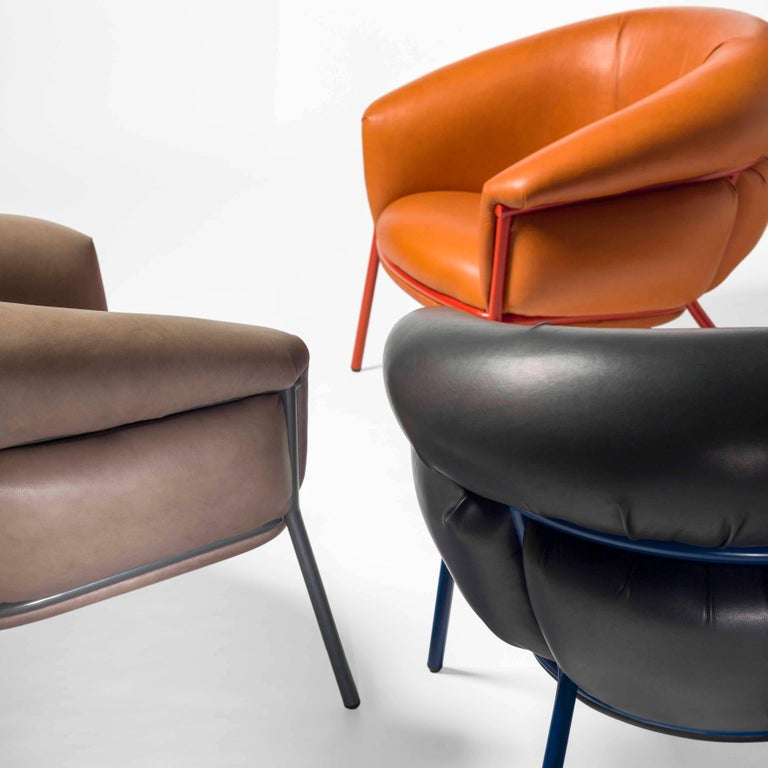 Grasso Armchair by Stephen Burks, Orange In New Condition For Sale In Barcelona, Barcelona