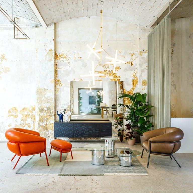 Iron Grasso Armchair by Stephen Burks, Orange For Sale