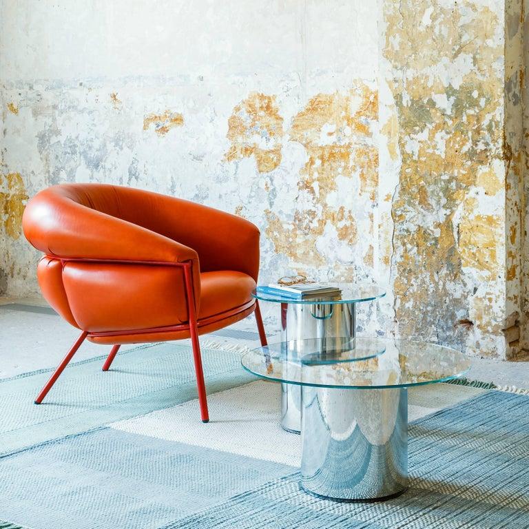 Grasso Armchair by Stephen Burks, Orange For Sale 1