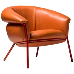 Grasso Armchair by Stephen Burks, Orange
