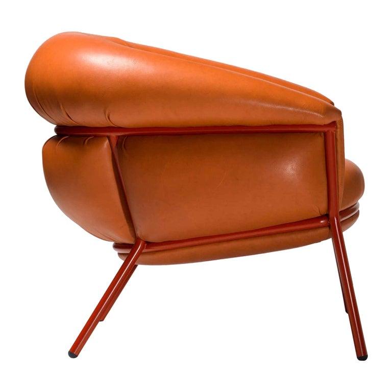 Grasso Armchair by Stephen Burks, Orange For Sale