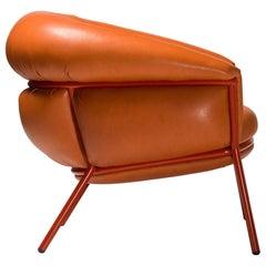 Grasso Armchair by Stephen Burks, Orange