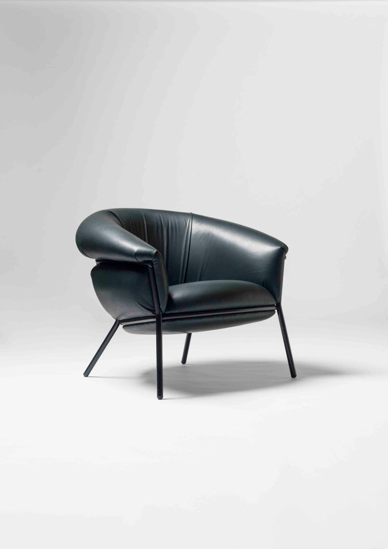 Lacquered Grasso Armchair For Sale