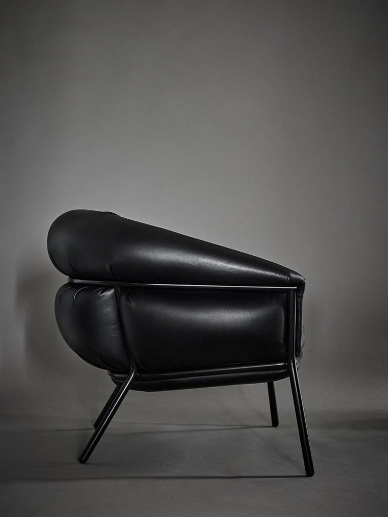 Modern Grasso Armchair in Leather by BD Barcelona
