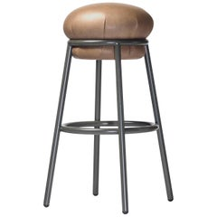 Grasso Stool by Stephen Burks, Brown