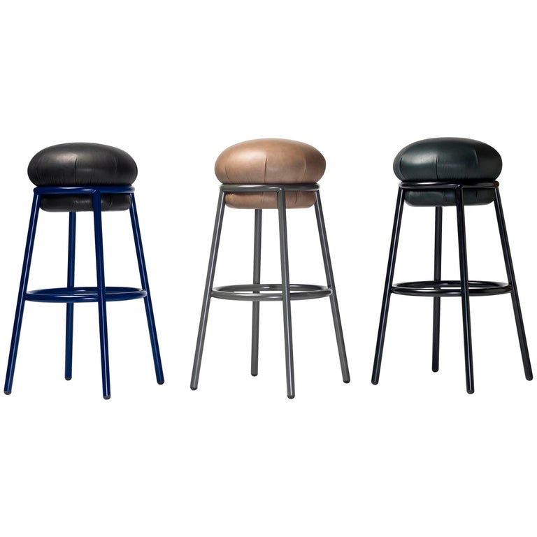 """""""Grasso is not fat. Grasso is more than fat. It's overflowing."""" This is how Stephen Burks sums up his new collection for BD. The stool perfectly complements the armchair and is made in the same structure and upholstery colors. It stands out due to"""
