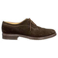 GRAVATI Size 11.5 Brown Suede Lace Up