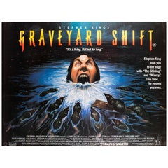 Graveyard Shift 1990 UK Quad Film Poster Signed by Vic Fair