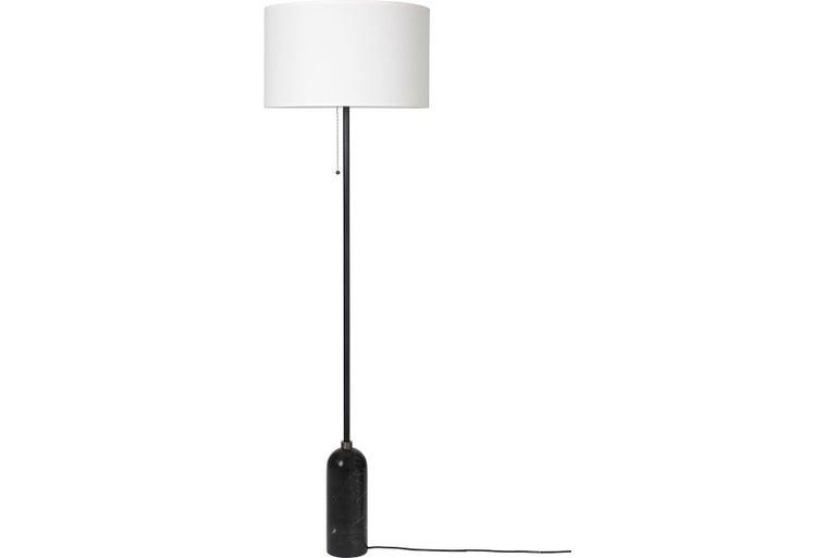 Post-Modern Gravity Floor Lamp, Black Marble For Sale