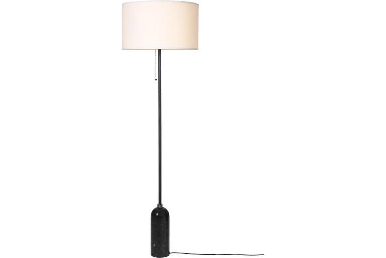 Dutch Gravity Floor Lamp, Black Marble For Sale