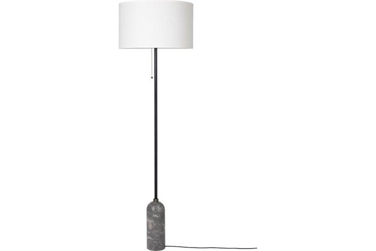 Post-Modern Gravity Floor Lamp, Grey Marble For Sale