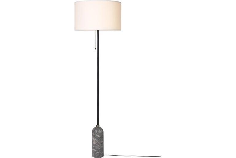 Dutch Gravity Floor Lamp, Grey Marble For Sale