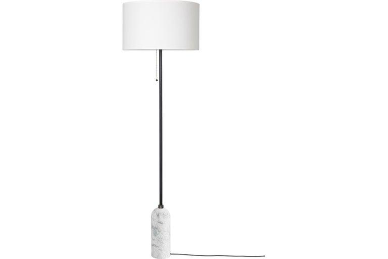 Post-Modern Gravity Floor Lamp, White Marble For Sale