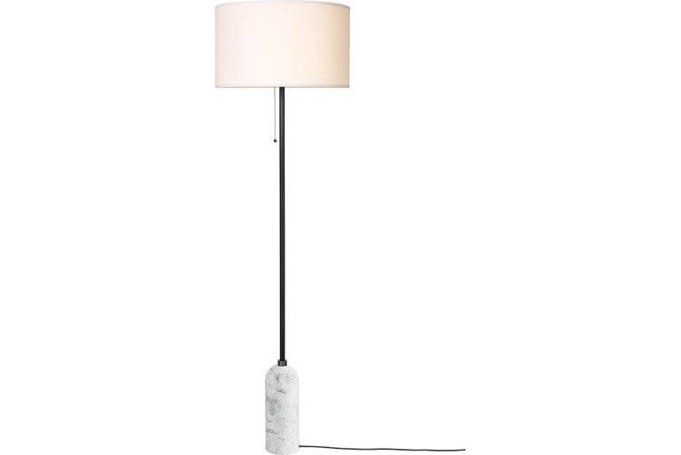Dutch Gravity Floor Lamp, White Marble For Sale