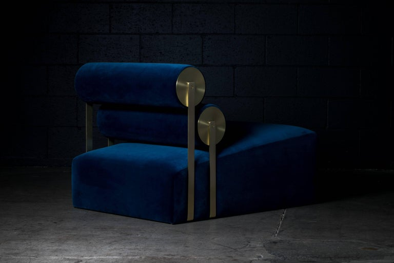 American Gravity Lounge Chair in Indigo from the Qualia Collection by Azadeh Shladovsky For Sale