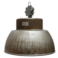 Gray Aluminum Vintage Industrial Hanging Lights (2x)