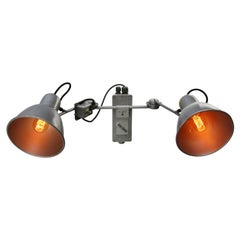 Gray Aluminum Vintage Photography Metal Wall Light