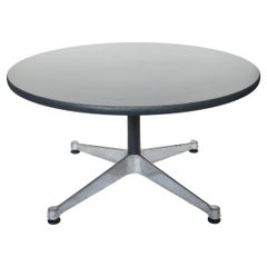 Gray and Black Aluminum Group Coffee Table by Eames for Herman Miller