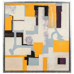 Gray and Yellow Abstract by Christopher Shoemaker