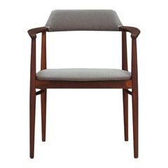 Gray Armchair Teak Vintage Danish Design, 1960s