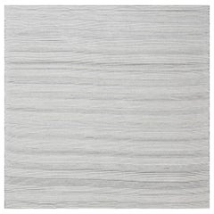 Gray Bauer Collection Minimalist White and Black Hand Knotted Wool Rug