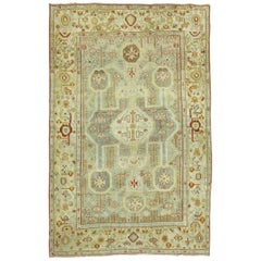 Gray Blue Antique Persian Malayer Accent Rug