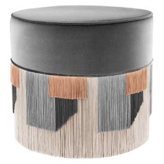 Gray Couture Geometric Geo Pouf