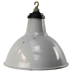 Gray Enamel British Vintage Industrial Pendant Lights