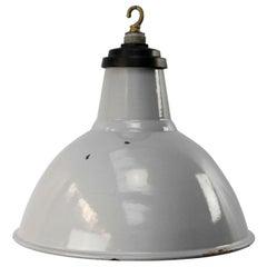 Gray Enamel British Vintage Industrial Pendant Lights