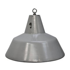 Gray Enamel Dutch Vintage Industrial Classic Pendant Lights