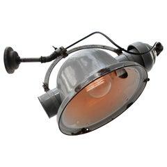 Gray Enamel Vintage Industrial Cast Iron Scone Wall Light by Beseg Licht