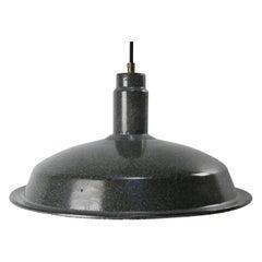 Gray Enamel Vintage Industrial Factory Pendant Lamp