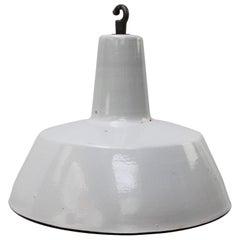 Gray Enamel Vintage Industrial Hanging Lamp Pendant by Philips