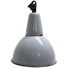 Gray Enamel Vintage Industrial Pedant Lamp