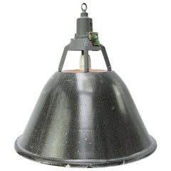 Gray Enamel Vintage Industrial Pendant Light
