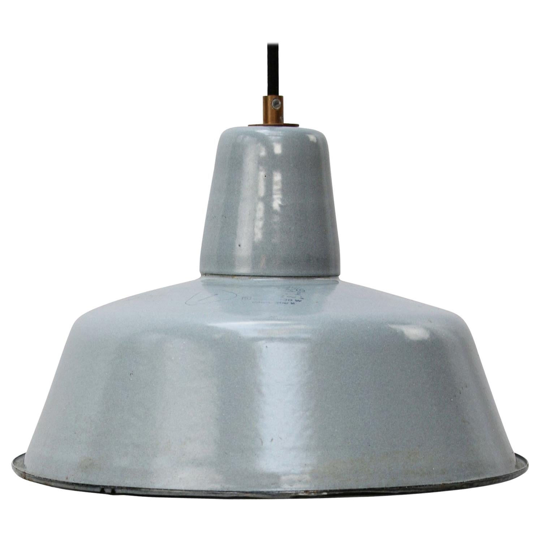 Gray Enamel Vintage Industrial Pendant Lights