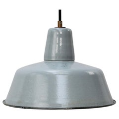 Gray Enamel Vintage Industrial Pendant Lights