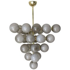 Gray Grapes Chandelier