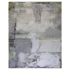 Gray Ground, 2019, by Robin Phillips, Plaster, Acrylic, and Dyes on Canvas