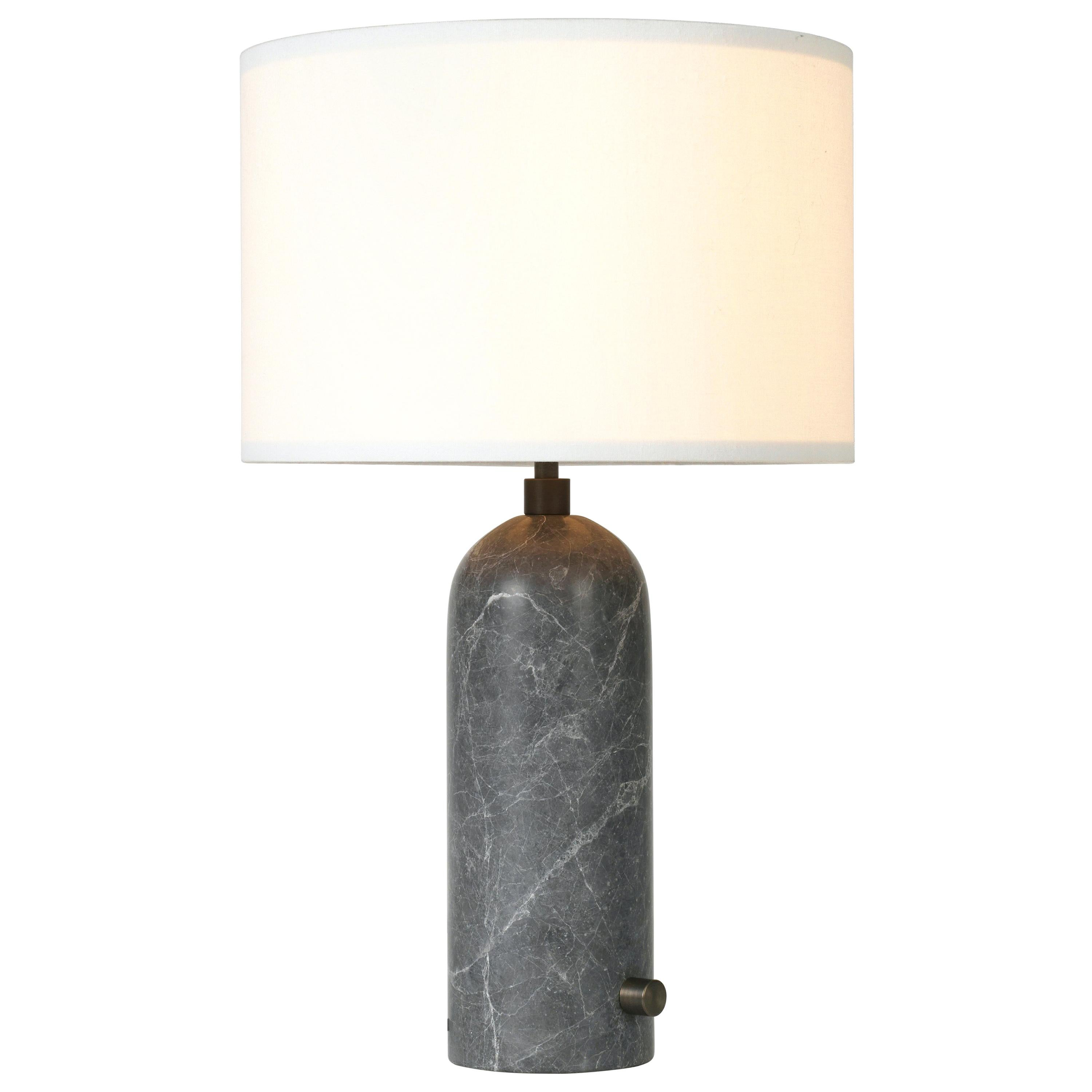Gray Marble 'Gravity' Table Lamp by Space Copenhagen for Gubi